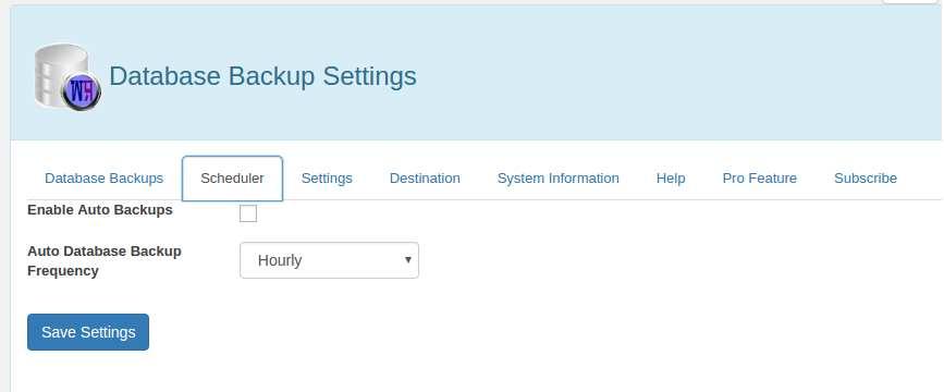 WP Database Backup Plugin WordPress