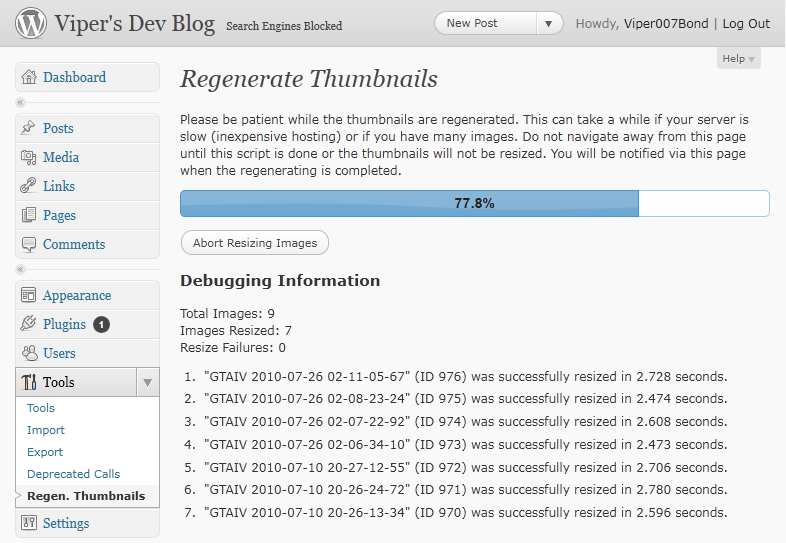 Regenerate Thumbnails Plugin WordPress, Download, Install