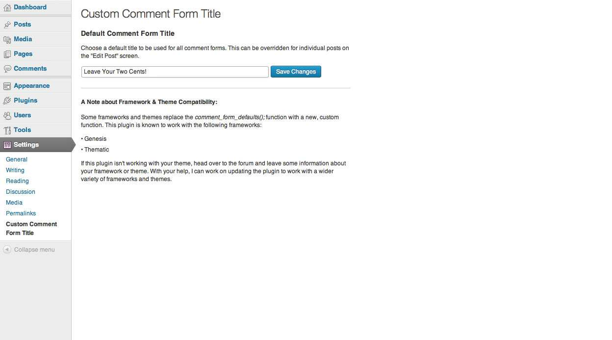 Custom Comment Form Title Plugin WordPress, Download, Install