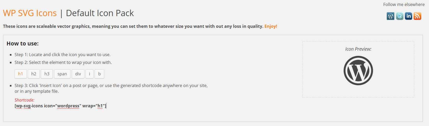 WP SVG Icons Plugin WordPress