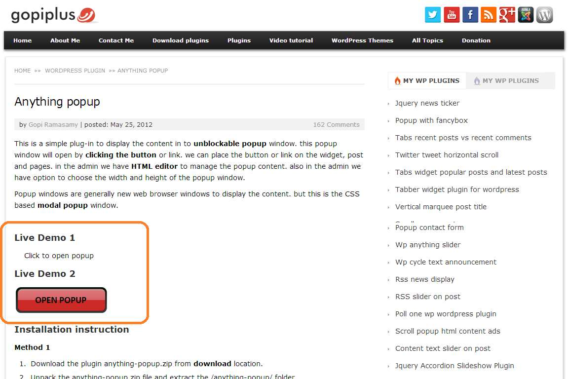 Anything Popup Plugin WordPress, Download, Install