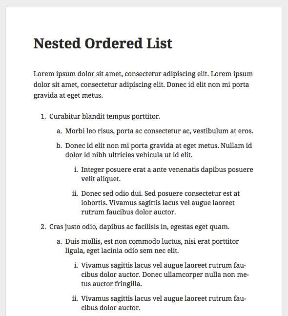 Nested Ordered Lists Plugin WordPress, Download, Install