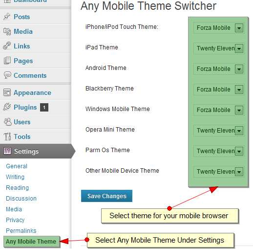 Any Mobile Theme Switcher Plugin WordPress, Download, Install