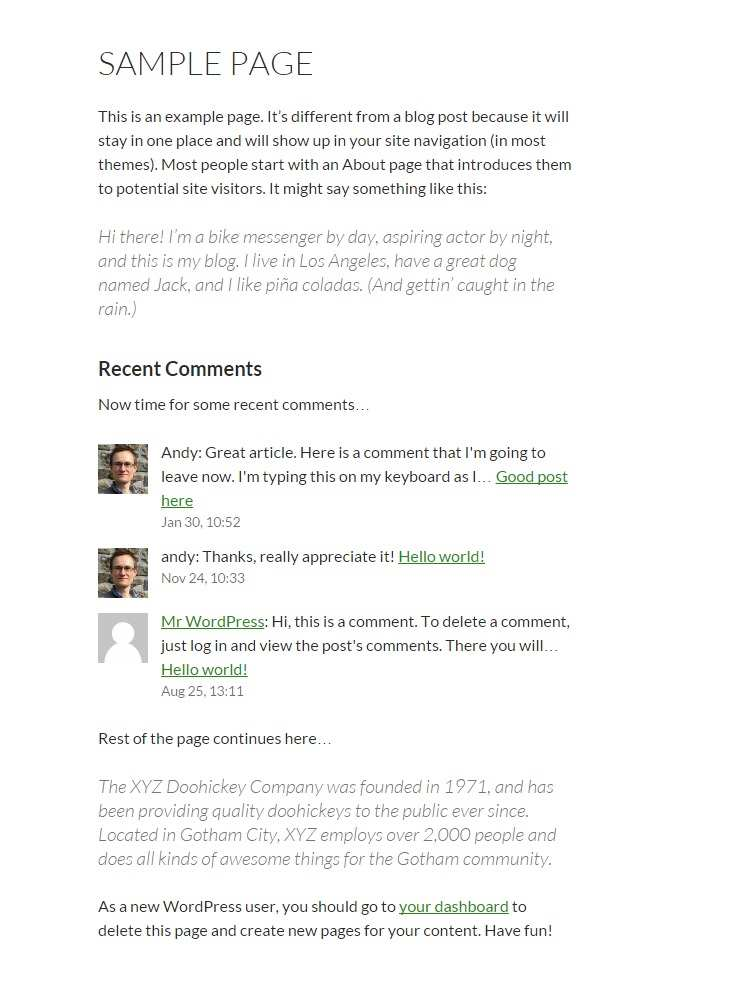 Better Recent Comments Plugin WordPress, Download, Install