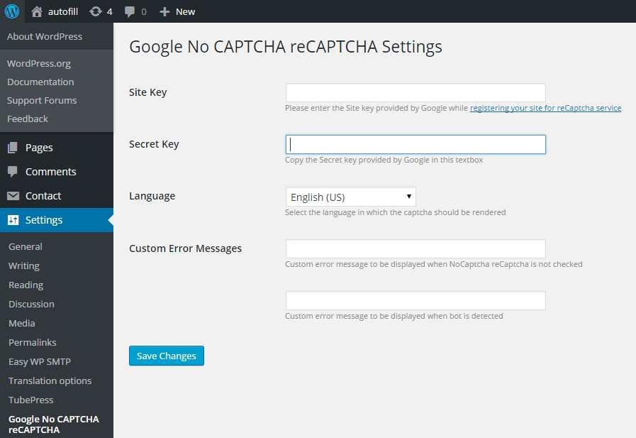 Google No CAPTCHA reCAPTCHA by WisdmLabs Plugin WordPress, Download