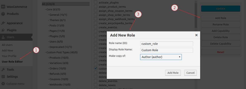 User Role Editor Plugin WordPress