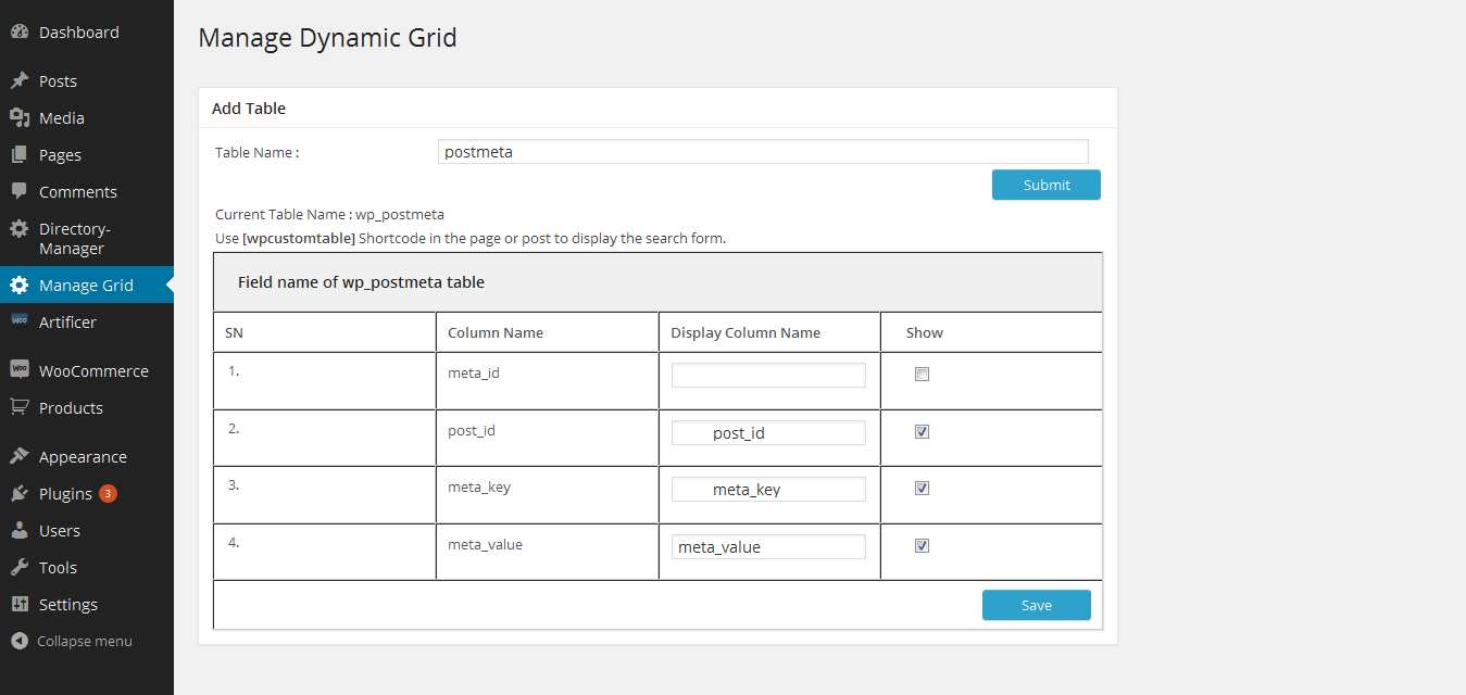 wp dynamic grid Plugin WordPress