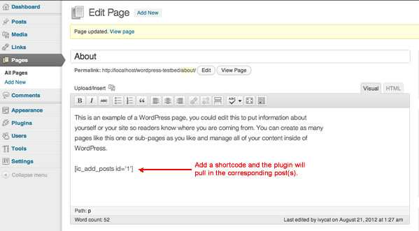 Posts in Page Plugin WordPress, Download, Install