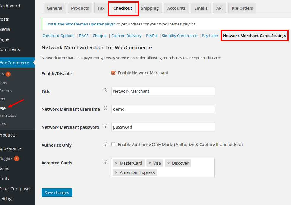 Network Merchant Payment Gateway for WooCommerce Plugin WordPress, Download, Install