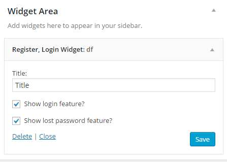Login Register Widget Plugin WordPress, Download, Install