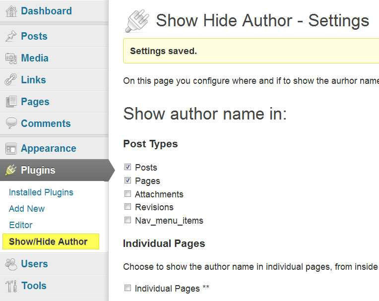 Show Hide Author Plugin WordPress Download Install To Be Successful Blog