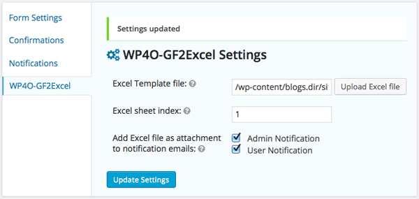 Gravity Forms To Excel AddOn Plugin WordPress
