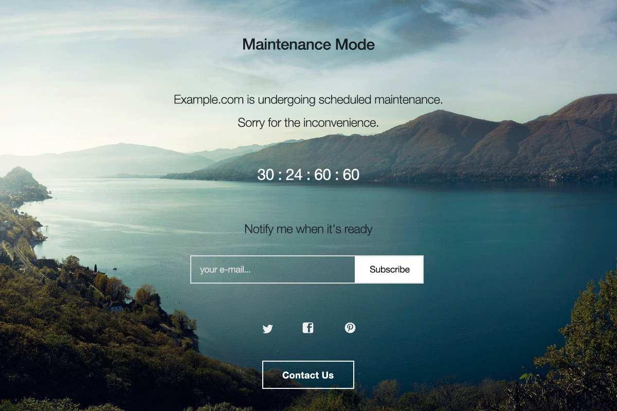 WP Maintenance Mode Plugin WordPress