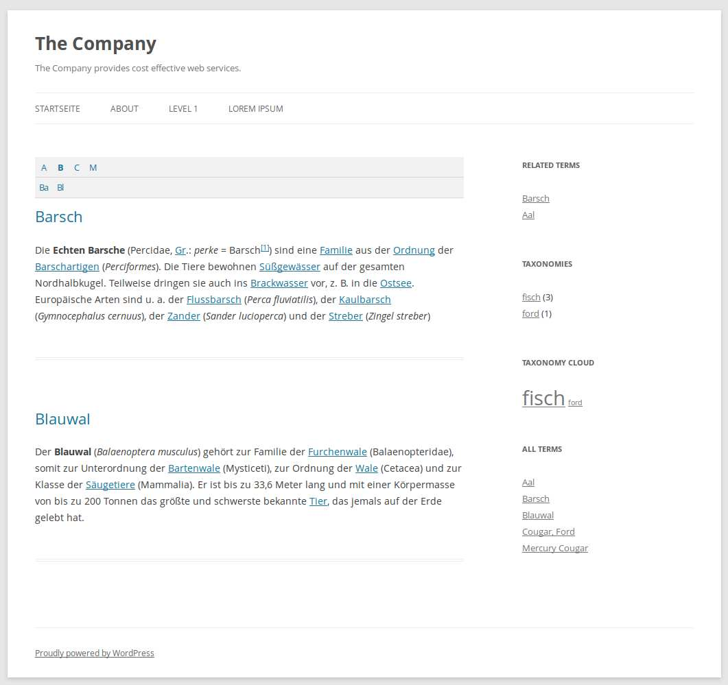 Encyclopedia / Glossary / Wiki Plugin WordPress