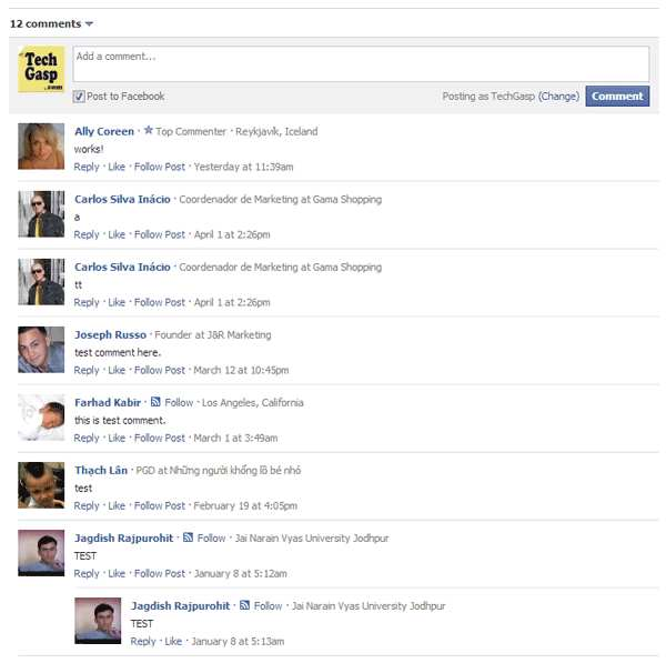Facebook Comments Master Plugin WordPress