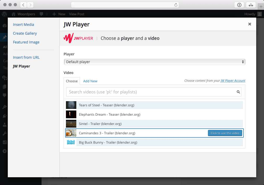 JW Player for WordPress Plugin WordPress, Download, Install