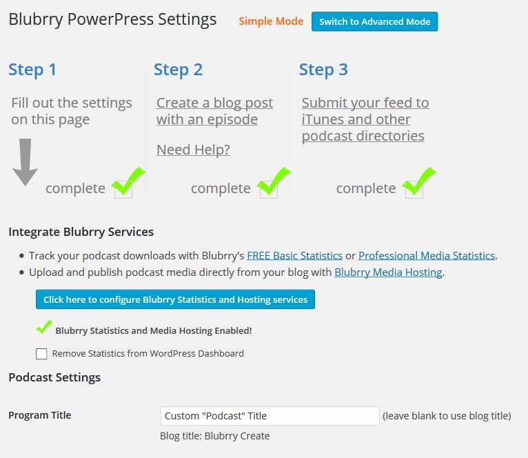 Blubrry PowerPress Podcasting plugin Plugin WordPress
