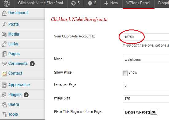 Clickbank WordPress Plugin (Niche Storefront) Plugin WordPress