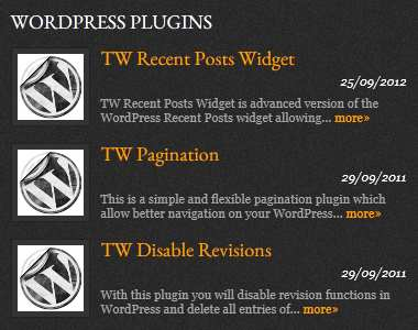 TW Recent Posts Widget Plugin WordPress