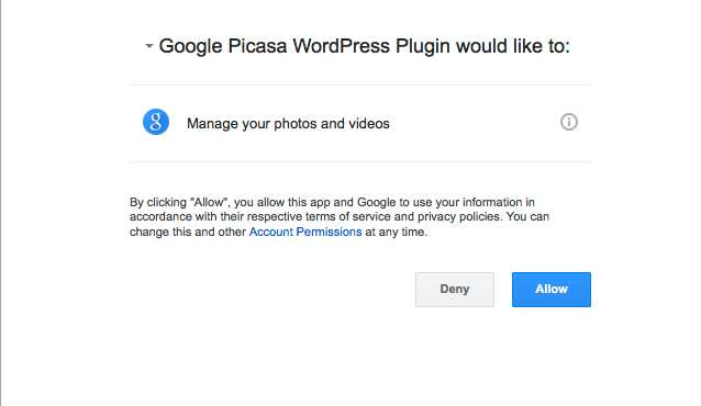 Google Photos & Picasa Viewer Plugin WordPress
