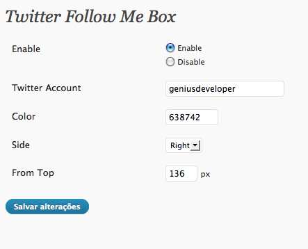 Twitter Follow Me Box Plugin WordPress