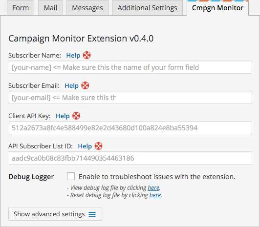 Contact Form 7 Campaign Monitor Extension Plugin WordPress, Download, Install