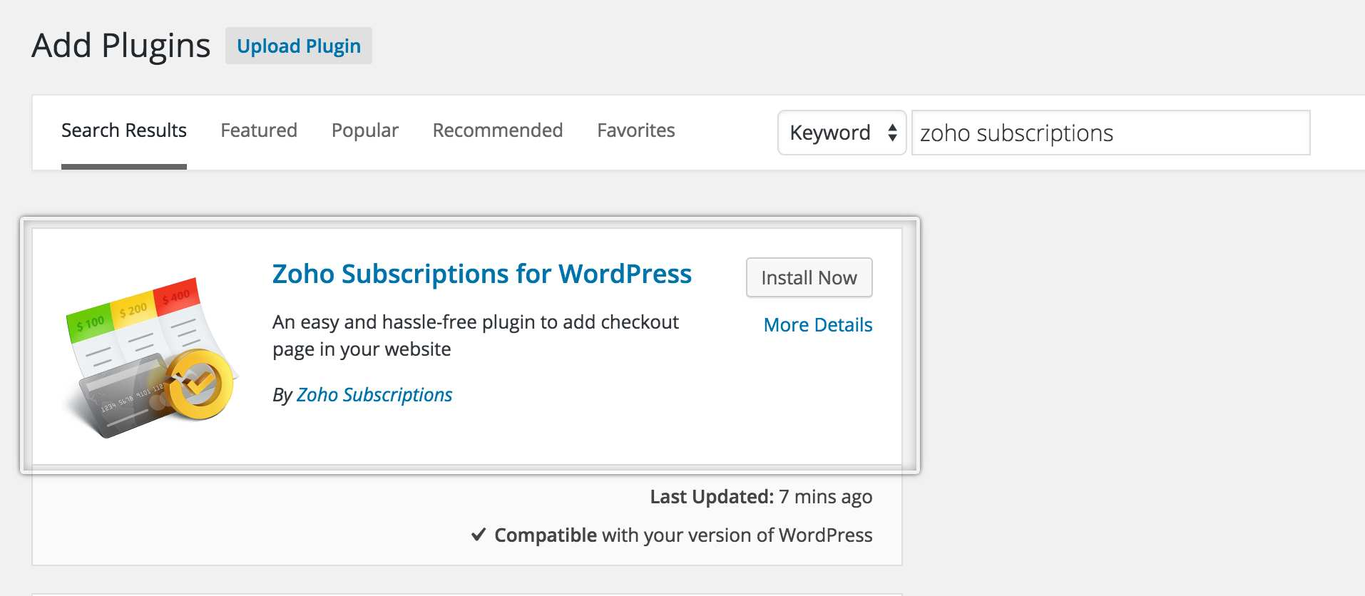 Zoho Subscriptions for WordPress Plugin WordPress, Download, Install