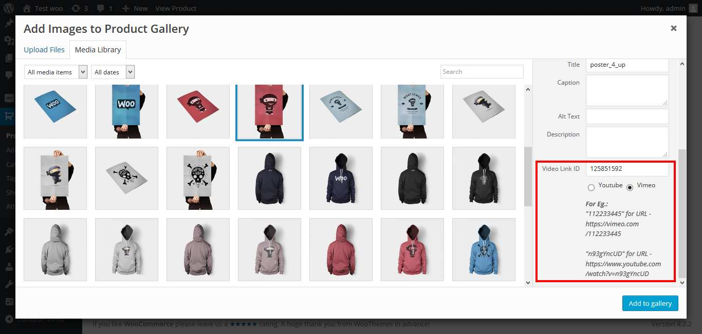 WooCommerce – Embed Videos To Product Image Gallery Plugin WordPress, Download, Install