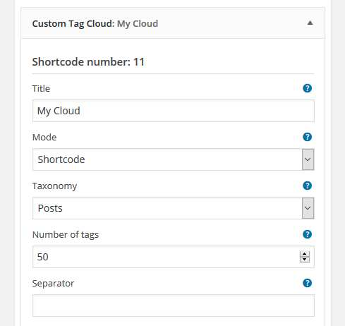 Custom Tag Cloud Plugin WordPress