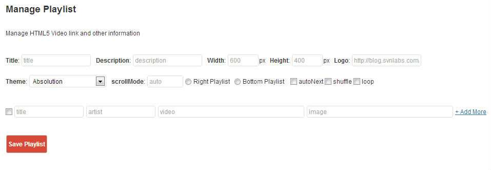 HTML5 Video Player with Playlist Plugin WordPress, Download, Install