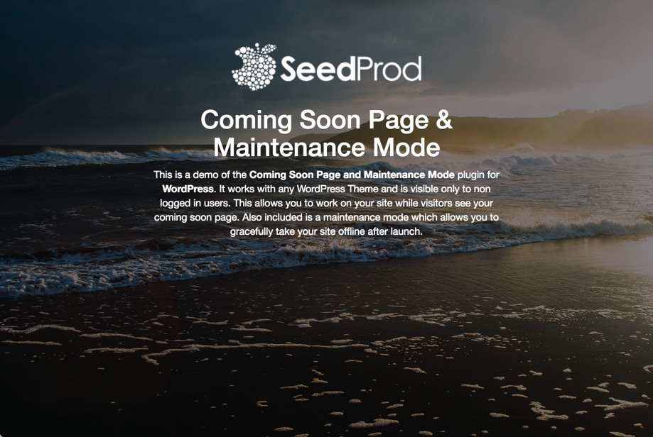 Coming Soon Page & Maintenance Mode by SeedProd Plugin WordPress