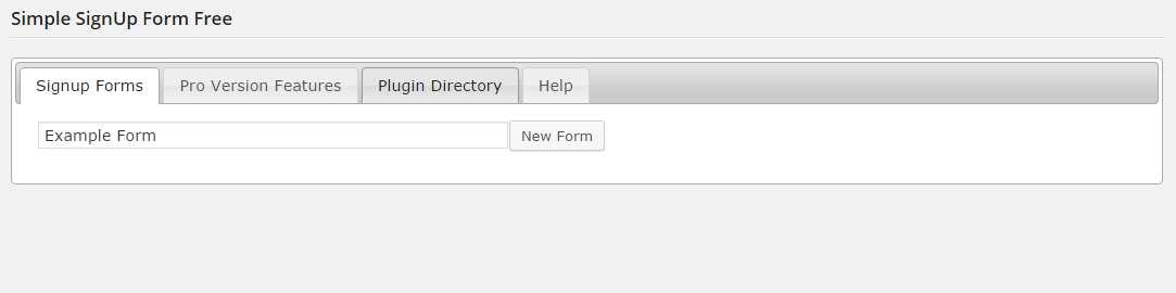 Simple Signup Form Plugin WordPress