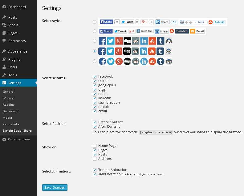 WWM Social Share On Image Hover Plugin WordPress, Download
