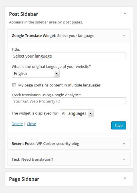 Goo Translate Widget Plugin WordPress, Download, Install