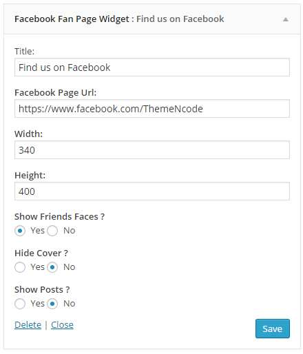 Facebook Fan Page Widget Plugin WordPress