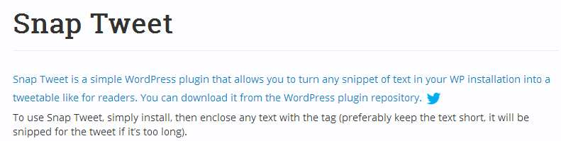 Snap Tweet Plugin WordPress, Download, Install
