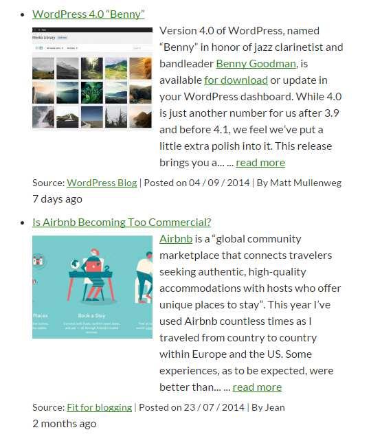 WP RSS Aggregator Plugin WordPress