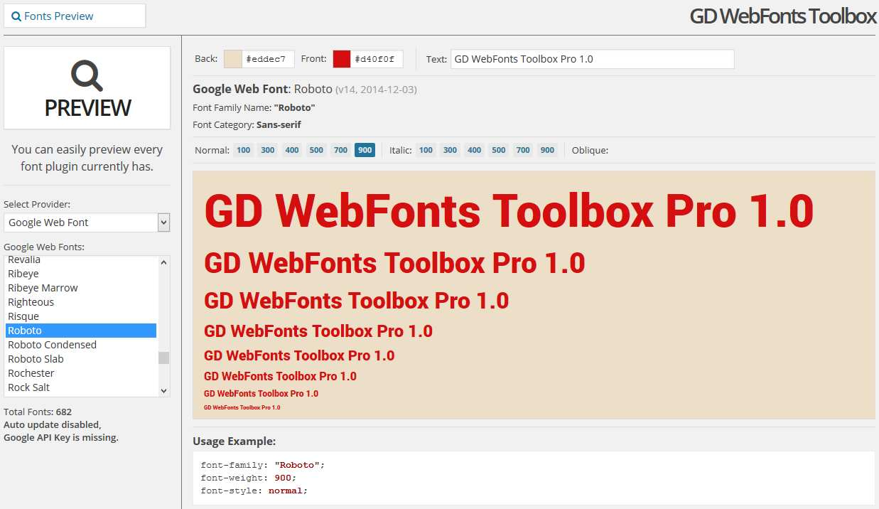 GD WebFonts Toolbox Lite Plugin WordPress, Download, Install