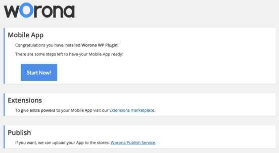 Worona - Native Mobile App for free (iOS & Android) Plugin WordPress