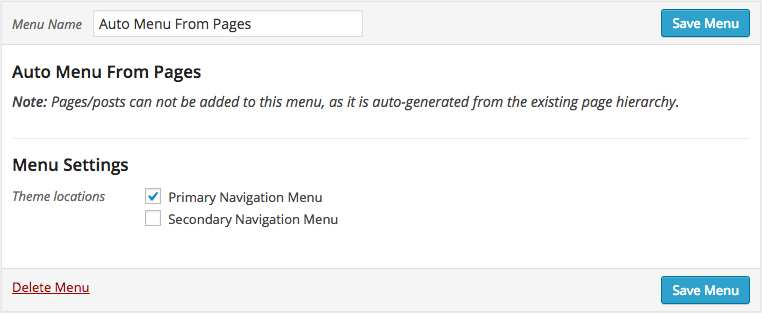 Auto Menu From Pages Plugin WordPress, Download, Install