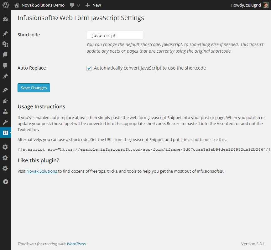 Tc custom javascript plugin wordpress, download, install.