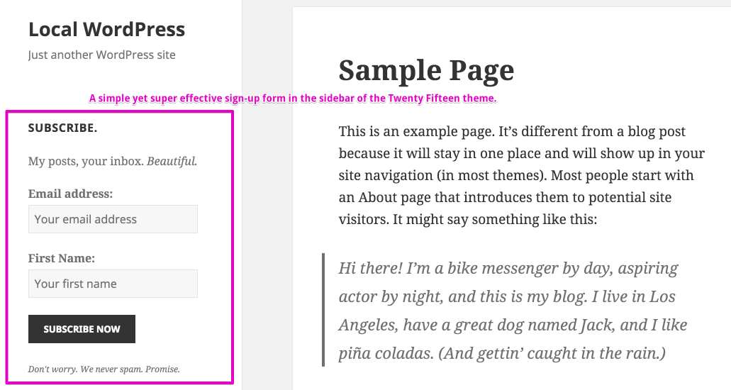 MailChimp for WordPress Plugin WordPress