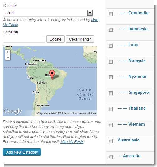 Map My Posts Plugin WordPress