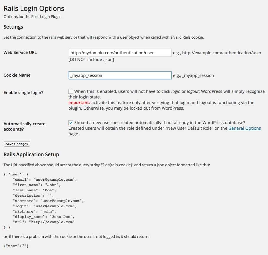 Rails Login Plugin WordPress, Download, Install