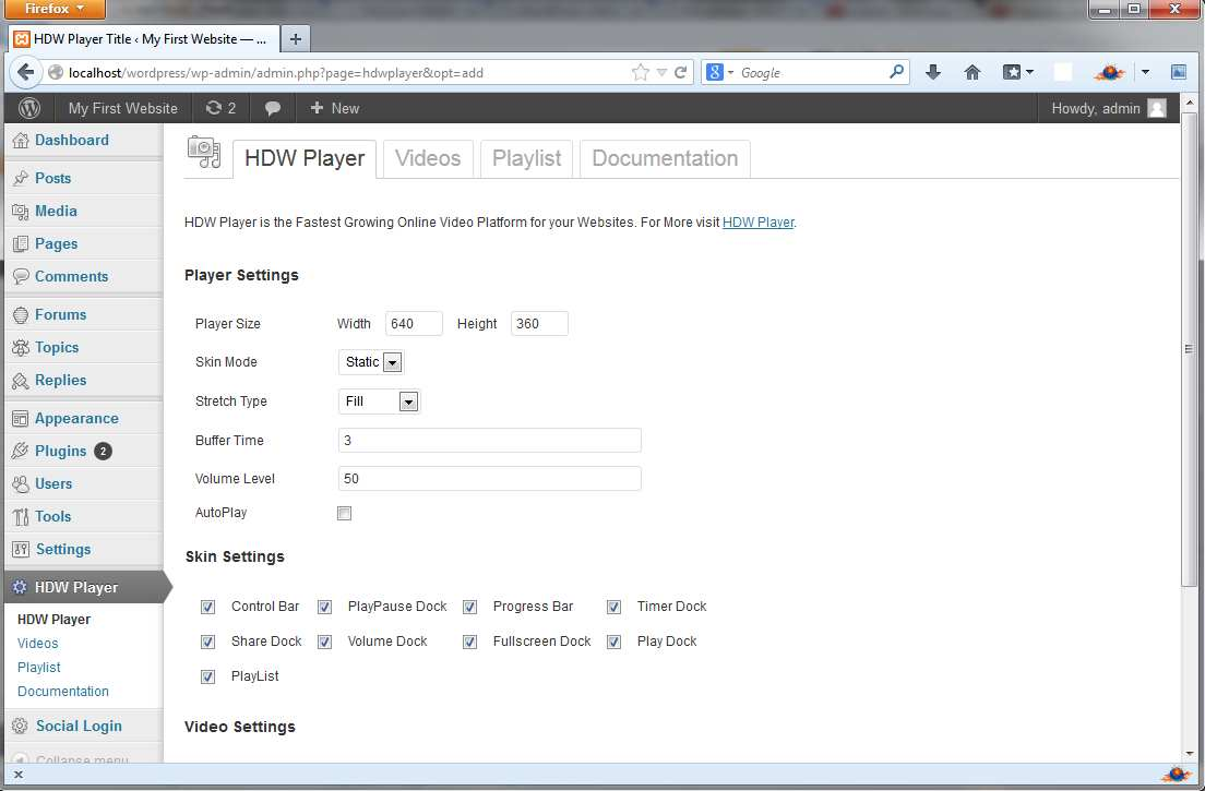 HDW Player Plugin (Video Player & Video Gallery) Plugin WordPress, Download, Install