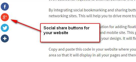 Softshare Floating Buttons Plugin WordPress