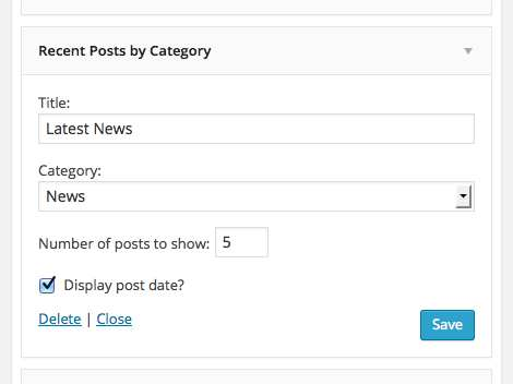 Recent Posts by Category Widget Plugin WordPress, Download, Install