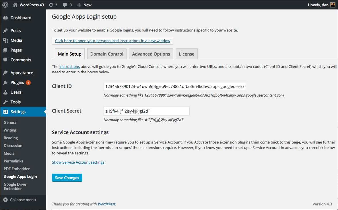 Google Apps Login Plugin WordPress