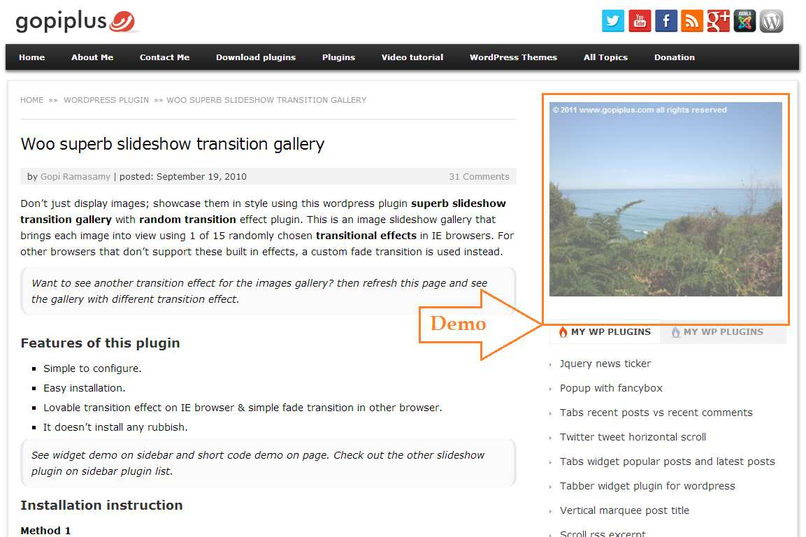 Woo superb slideshow transition gallery with random effect Plugin WordPress, Download, Install