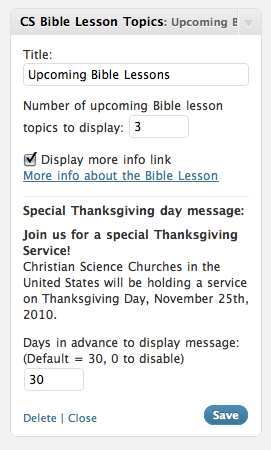 Christian Science Bible Lesson Subjects Plugin WordPress, Download, Install